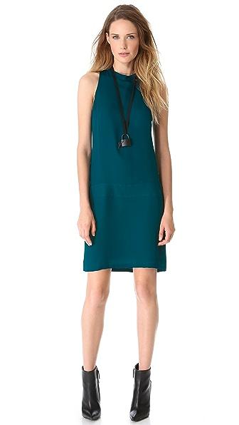 Sally LaPointe Sleeveless Drop Waist Dress