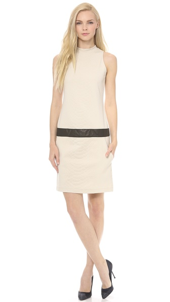 Sally LaPointe Snake Jacquard Knit Tank Dress