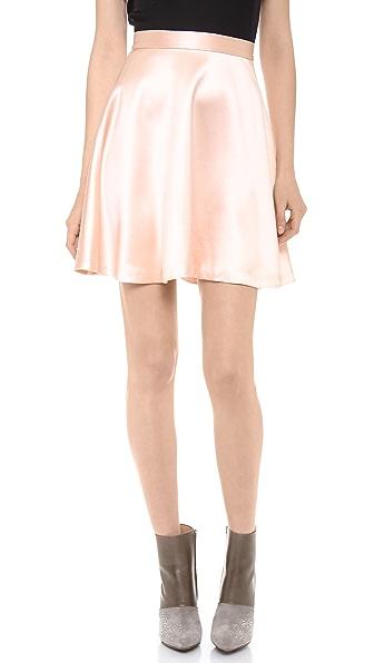 Sally LaPointe Crepe Back Satin Skirt