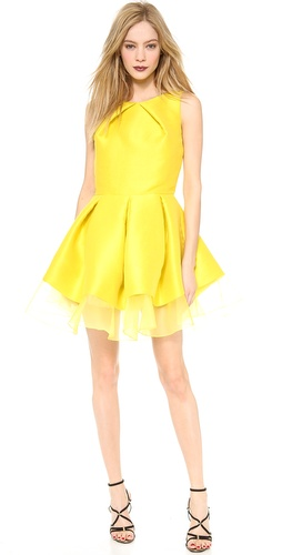 Sally LaPointe Double Pleat Party Dress