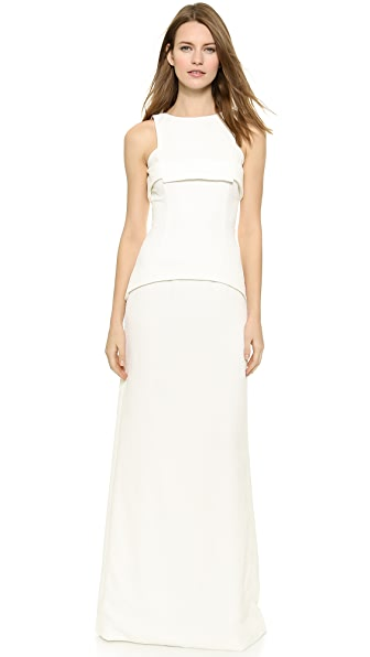 Square Square Square Top Gown (White)