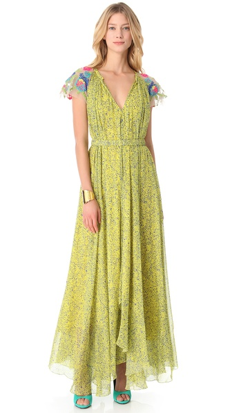 Saloni Iris V Neck Gown