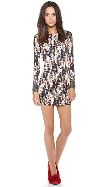 Saloni Lula Embroidered Jersey Dress