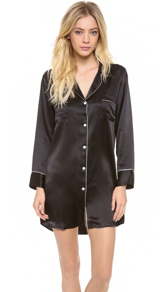 Salua Silk Boyfriend Sleep Shirt