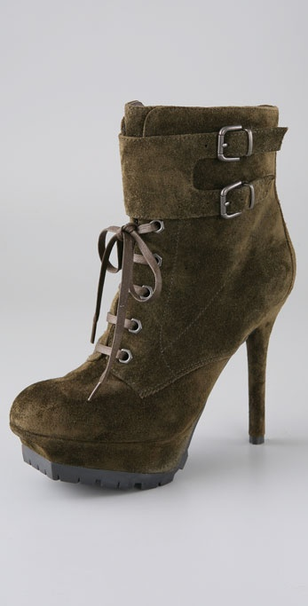 Sam Edelman Vancouver Suede Lace Up Booties