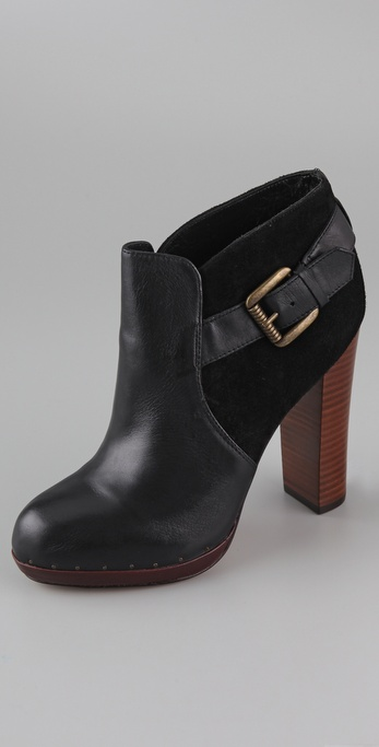 Sam Edelman Lou Side Buckle Platform Booties