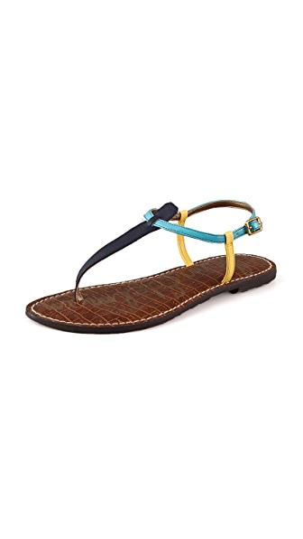 Sam Edelman Gigi Colorblock T Strap Flat Sandals