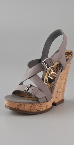 Sam Edelman Josie Cutout Cork Platform Sandals