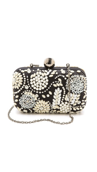Santi Beaded Box Clutch