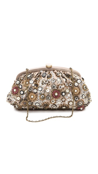 Santi Beaded Floral Pattern Clutch