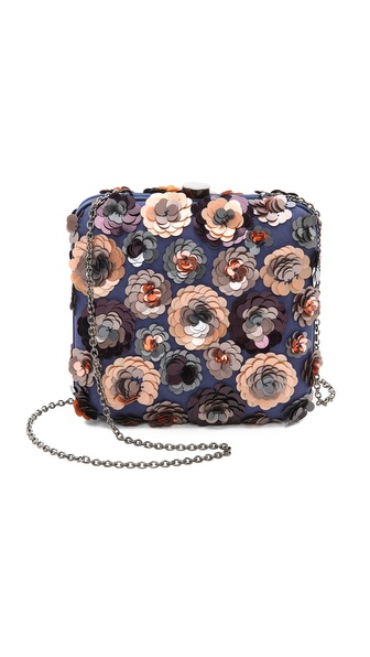 Santi Floral Sequin Clutch