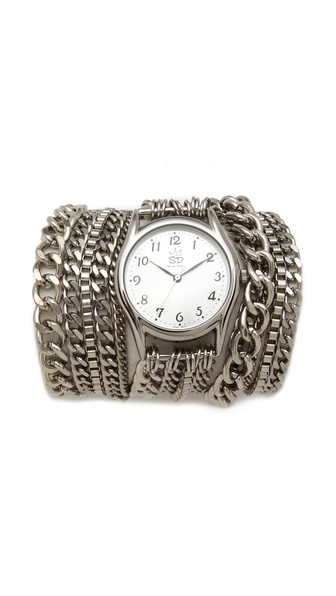Sara Designs All Chain Wrap Watch