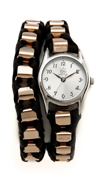 Sara Designs NY Box Chain Wrap Watch
