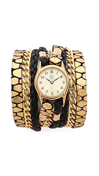 Sara Designs Jirafa Chain Wrap Watch