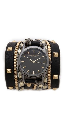 Sara Designs Pyramid Stud Leather Wrap Watch at Shopbop / East Dane