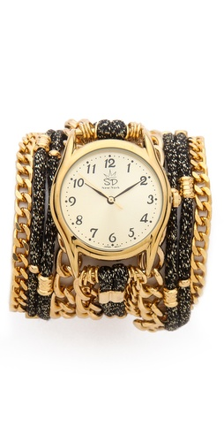 Sara Designs Metallic Cord Wrap Watch at Shopbop / East Dane