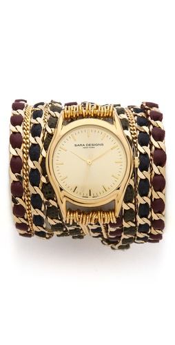 Sara Designs Fancy Chain Wrap Watch at Shopbop / East Dane