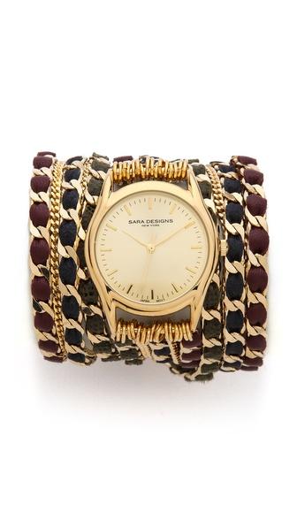 Sara Designs Fancy Chain Wrap Watch