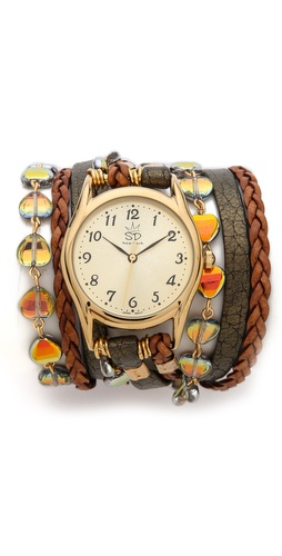 Sara Designs Czech Glass Wrap Watch at Shopbop / East Dane