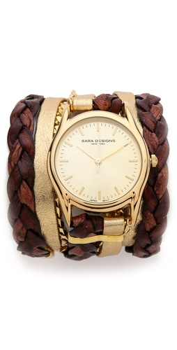Sara Designs Natural Thick Braided Wrap Watch at Shopbop / East Dane