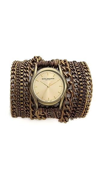Sara Designs Chain Wrap Watch