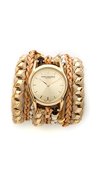Sara Designs Braided Wrap Watch