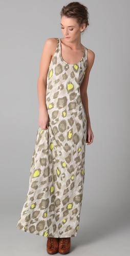 sass & bide The Companion Leopard Maxi Dress
