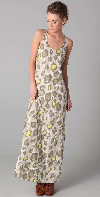 sass & bide The Companion Leopard Maxi Dress
