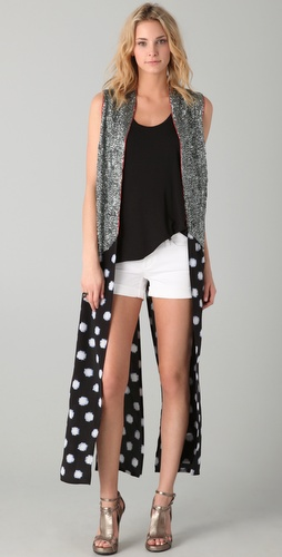 sass & bide The Very Last Vest with Sequins