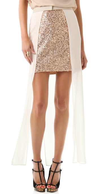 sass & bide Wish You Were Here Skirt with Overlay