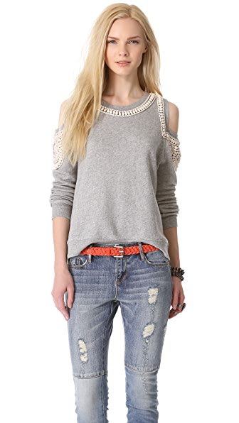 sass & bide The Fortified Embellished Sweatshirt