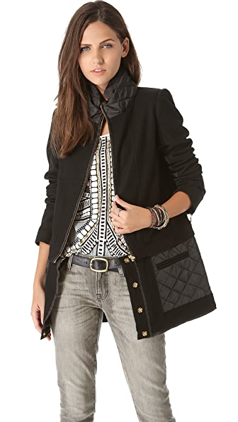 sass & bide The Whistle Blower Quilted Coat