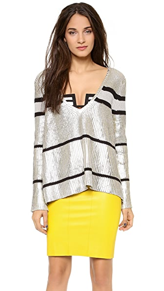 sass & bide Confetti War Metallic Sweater