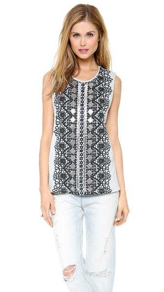 sass & bide Laugh a Little Sleeveless Top
