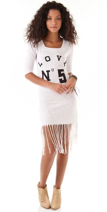 Sauce Long Fringe Dress