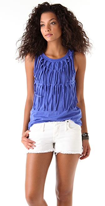 Sauce Fringed Tank Top