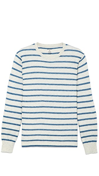 Save Khaki Long Sleeve Stripe Sweater