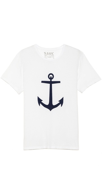 Save Khaki Anchor T-Shirt