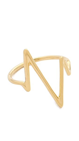 Sarah Chloe Large Heartbeat Ring