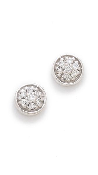 Sarah Chloe Petite Jolie Diamond Stud Earrings