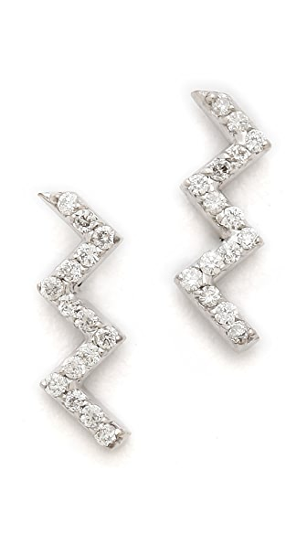 Sarah Chloe Zigzag Earrings
