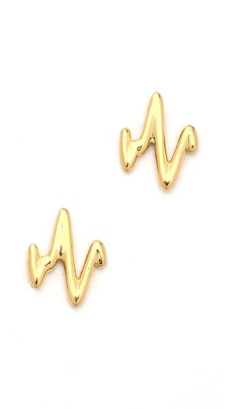 Sarah Chloe Heartbeat Stud Earrings