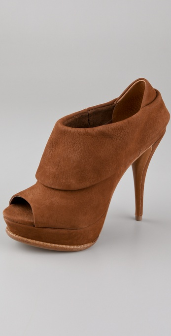 Schutz Open Toe Platform Booties