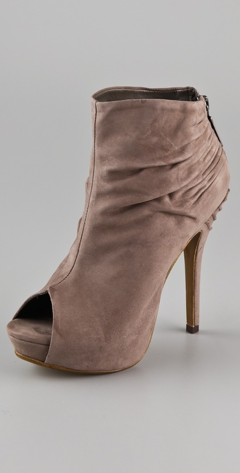 Schutz Draped Open Toe Booties