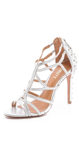 Shop Schutz Ivana Suede Cage Sandals and Schutz online - Footwear, Womens, Footwear, Sandals,  online Store