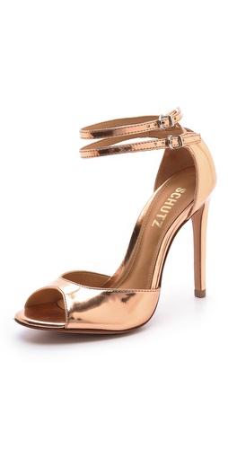 Schutz Shen Metallic Sandals