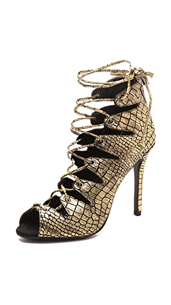 Schutz Slate Lace up Sandals
