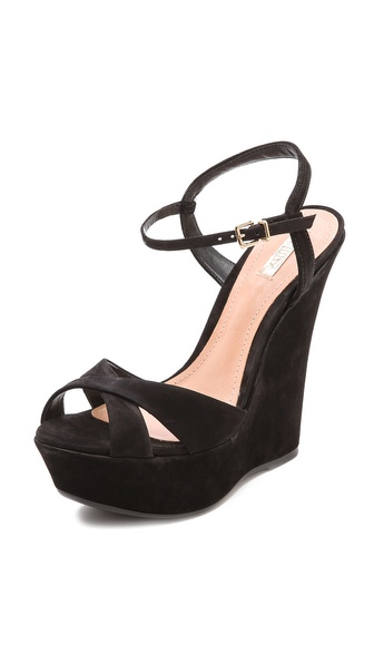 Schutz Endyra Platform Sandals - Black at Shopbop / East Dane