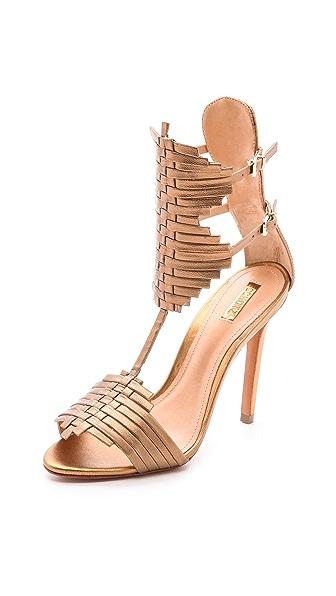 Schutz Ferrudja Woven Sandals