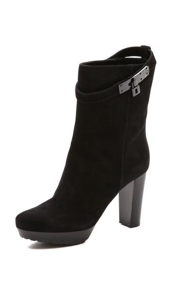 STEVEN DANN Leah Stacked Heel Platform Booties